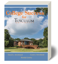Cover for College Success for Tusculum University 1
