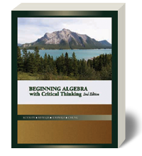 Cover for Beginning Algebra with Critical Thinking 2
