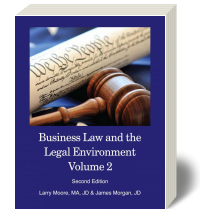 Cover for Business Law and The Legal Environment Volume 2 2