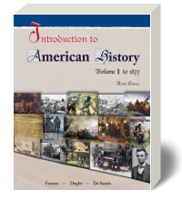 Cover for Introduction to American History Volume 1 9