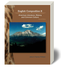 Cover for English Composition II: American Literature, History and Common Culture 2